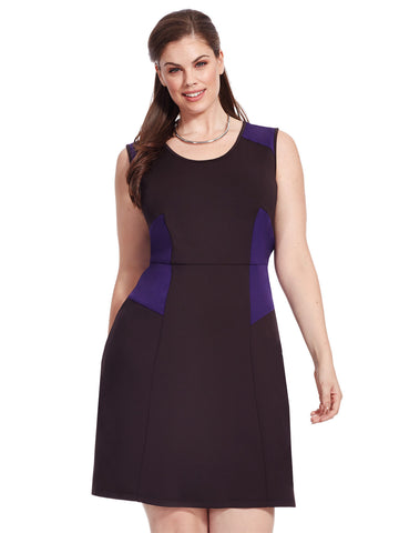 Digital Jersey Tuck Pleat Dress