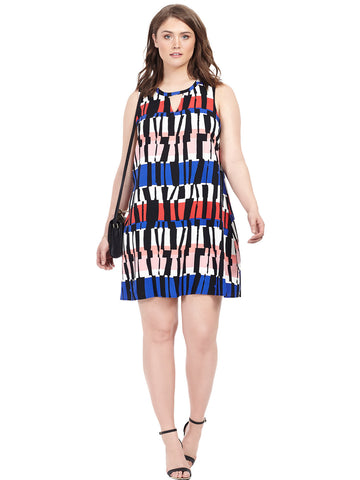 Pauline Stripe A-Line Dress
