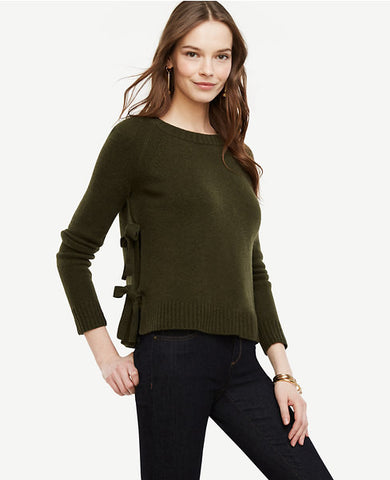 Wool Cashmere Side Tie Sweater