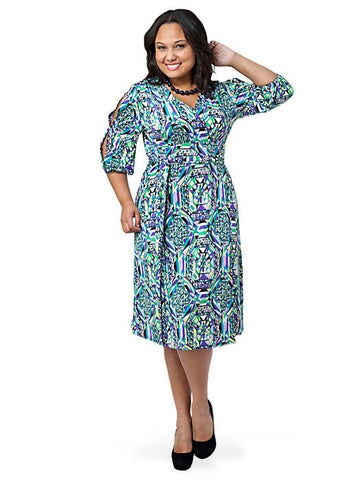 Split Sleeve Wrap Dress