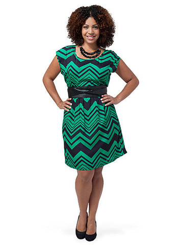 Chevron T-Shirt Dress