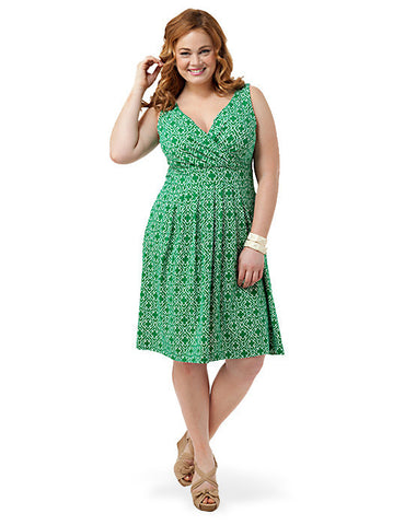 Fit and Flare Dress Green