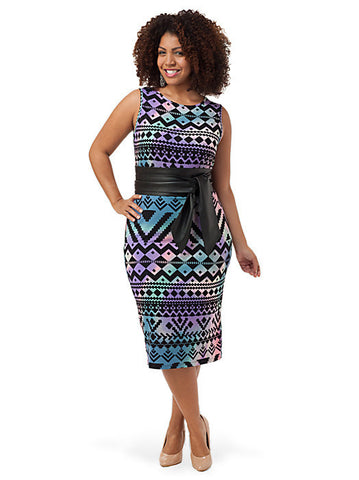 Dress In Aztec Print