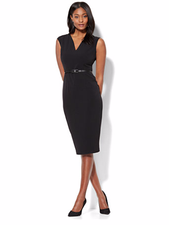 7th Avenue - V-Neck Sheath Dress