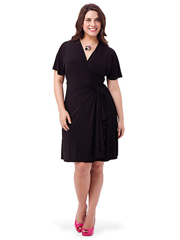 Jersey Wrap Dress In Black