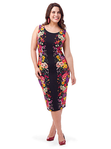 Dress In Mirror Floral Print