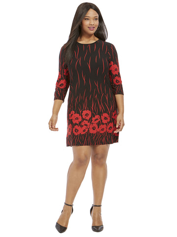 Poppy Border Print Tunic