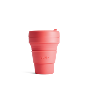 Stojo 12oz Collapsable Pocket Cup - Coral