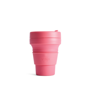 Stojo 12oz Collapsable Pocket Cup - Peony