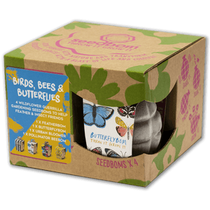 Birds, Bees & Butterflies SeedBom Gift Box - 4 Pack