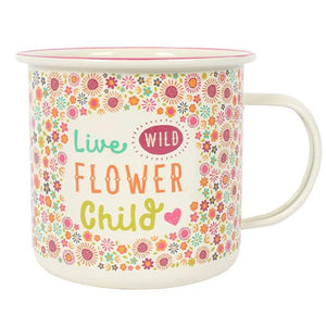 Enamel Mug - Live Wild Flower Child! - The Wild Tree
