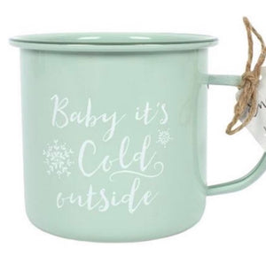 Enamel Mug - Baby it's Cold Outside! - The Wild Tree