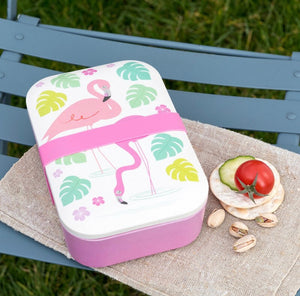 Bamboo Lunch Box - Flamingo Bay