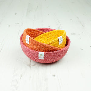 Jute Mini Bowl Set - Fire - The Wild Tree