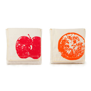 Organic Cotton Snack Pack - Apples & Oranges