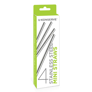 Stainless Steel Mini Straws - 4 Pack - The Wild Tree