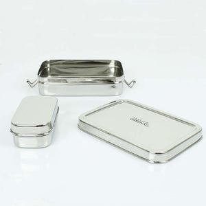 Rectangle Stainless Steel Lunch Box with Mini Container