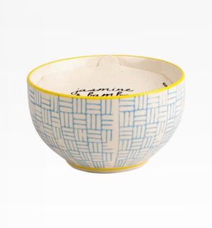 7oz Ceramic Bowl Candle - JASMINE & BAMBOO