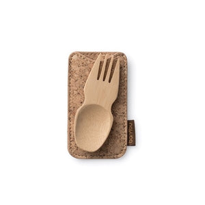 Bamboo Spork with Cork Cover - The Wild Tree