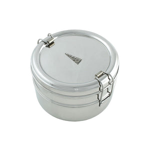 Two Tier Round Stainless Steel Lunch Box - The Wild Tree