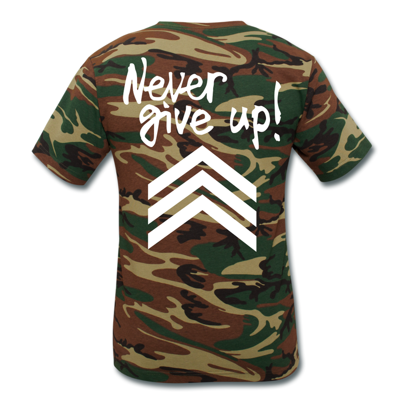 Never Give Up LLS - green camouflage