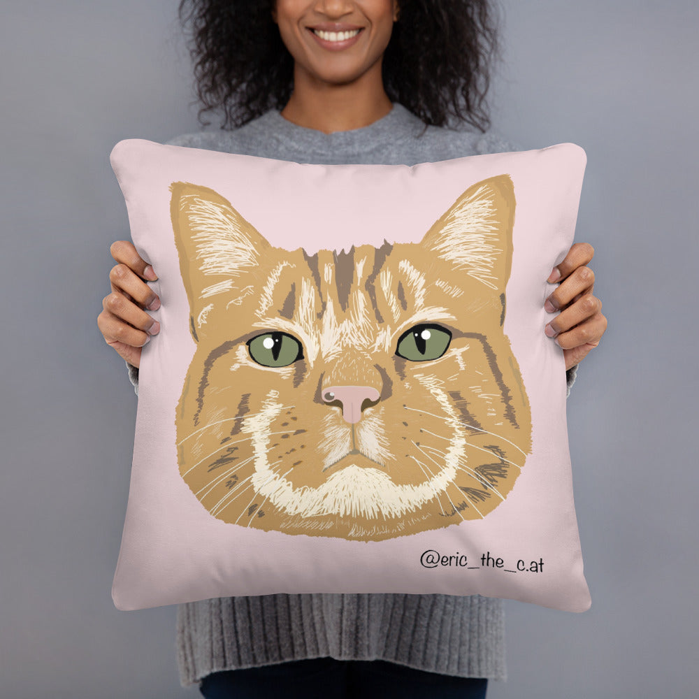 Eric The Cat Cushion (Pink)