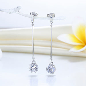 Elegant Solid 925 Dangle Earrings