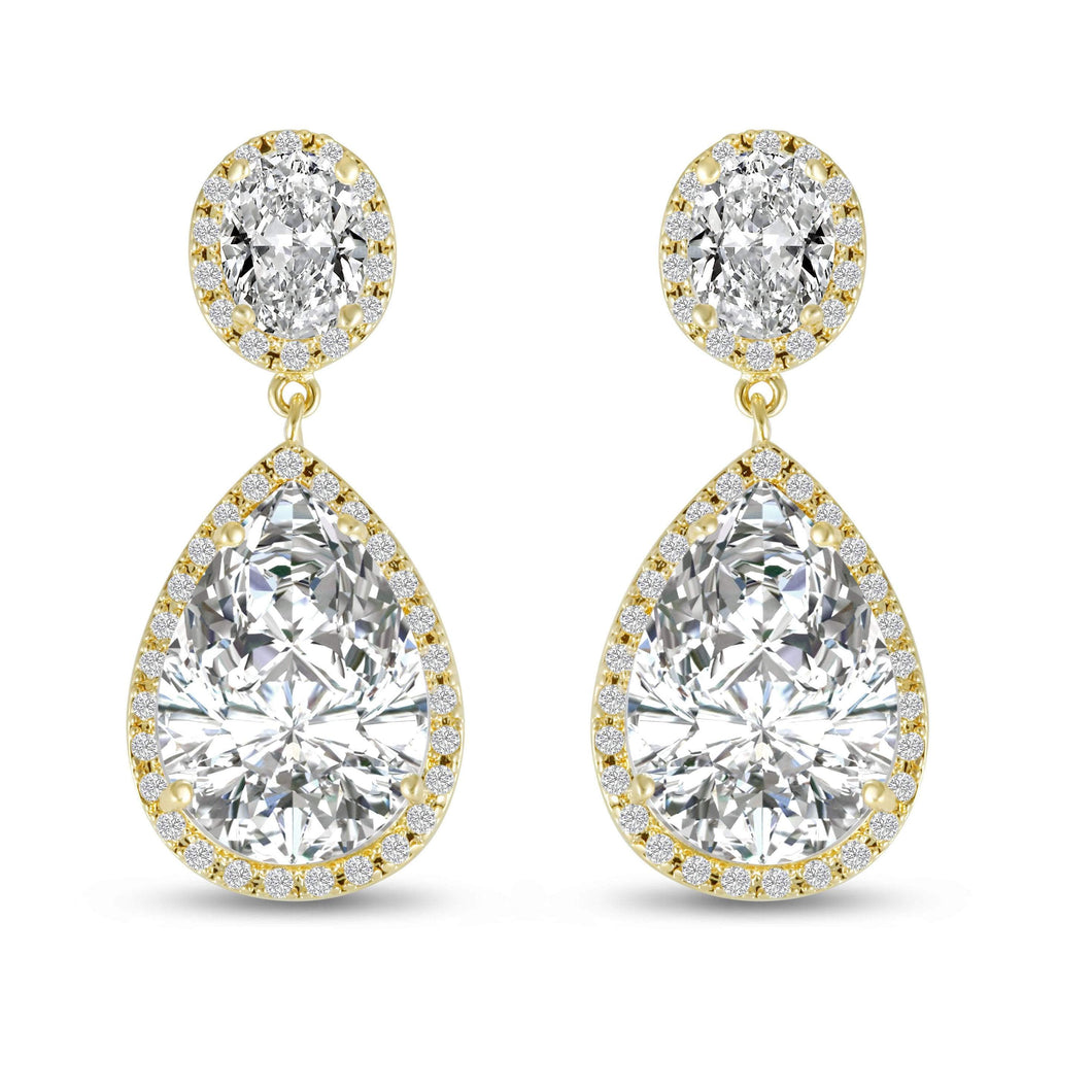 Verona Gold Simulated Diamond Earrings