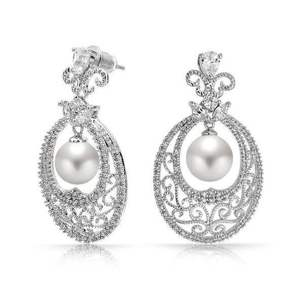 Imperial Pearl Chandelier Earrings