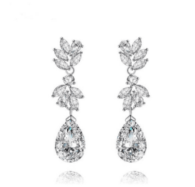 Lily Simulated Diamond Earrings