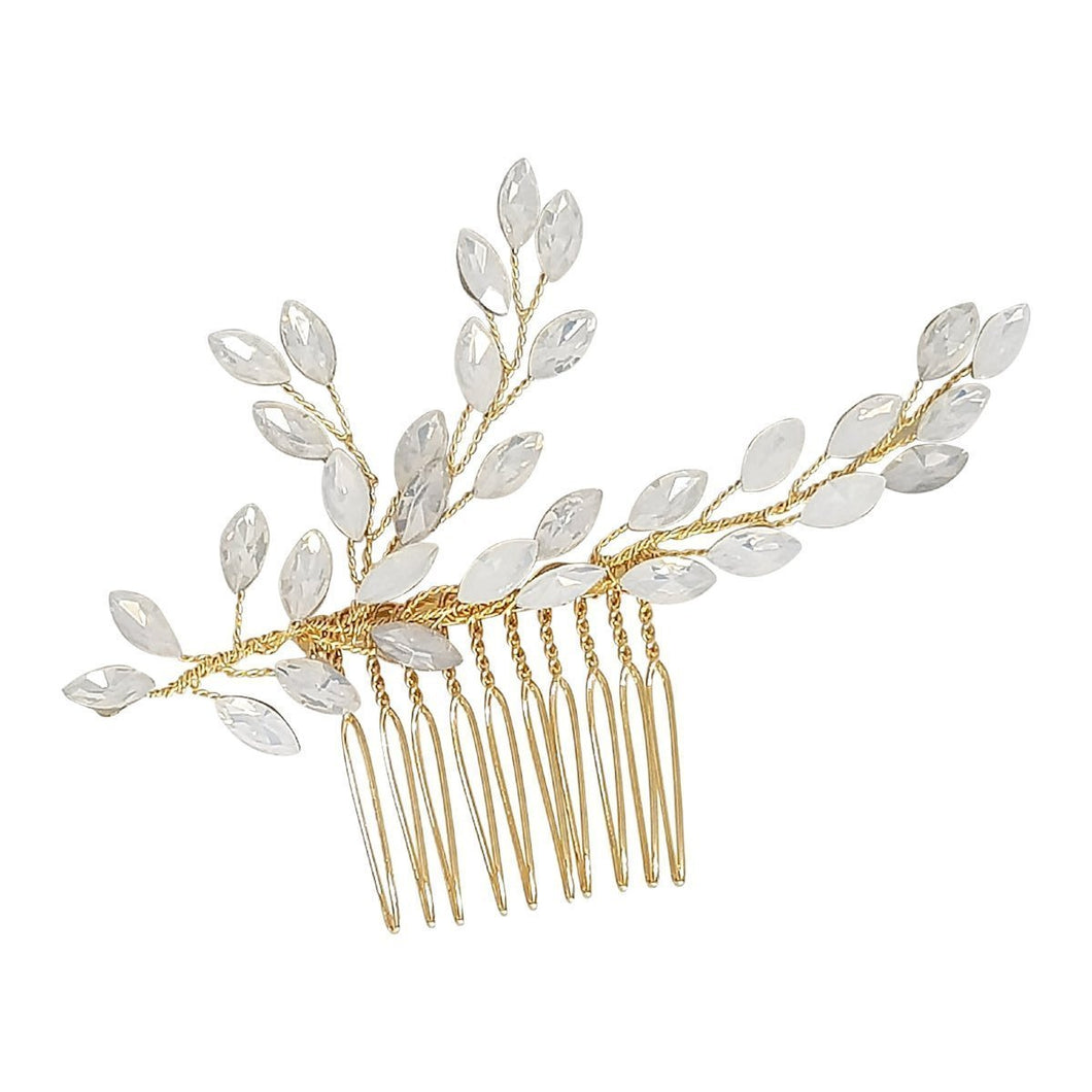 Opaline Gold Hair Comb