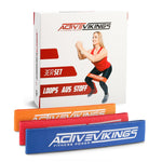 ActiveVikings®  Stoff Fitnessband / Loops Set 3-Stärken