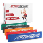 ActiveVikings®  Stoff Fitnessband / Loops Set 5-Stärken