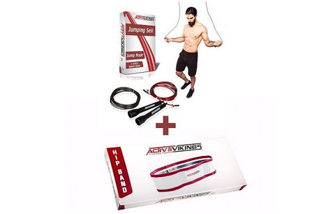 ActiveVikings® Leg-Day Set Springseil + Hip Band
