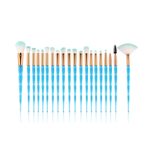 Blue Spice 20 Piece Vegan Makeup Brush Set