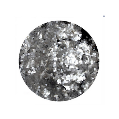 Silver Paradise - Biodegradable Hexagon Glitter 10g