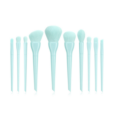 Blue Moon 10 Piece Vegan Makeup Brush Set