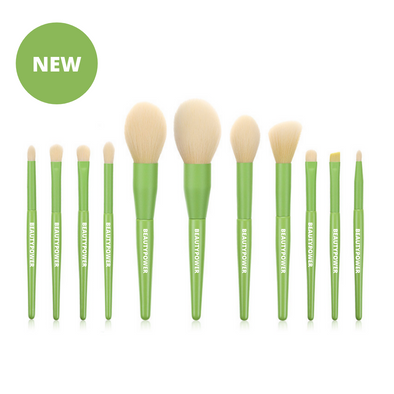 Gaia Green 11 Piece Vegan Makeup Brush Set
