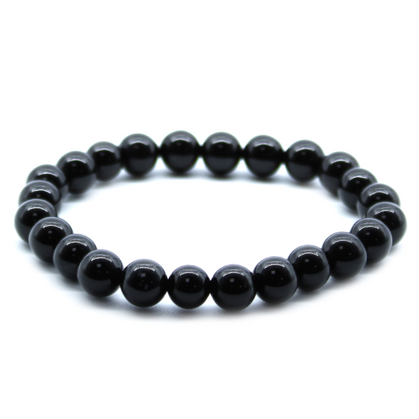 Black Agate Lucky Power Bracelet  ⚡