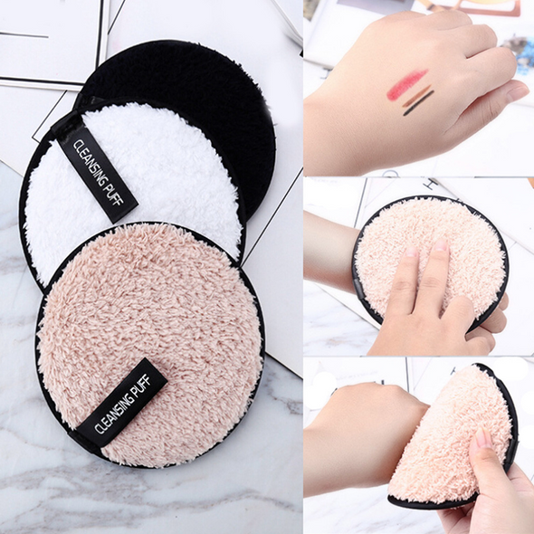 White Oval Reusable Microfiber Ultra Soft Makeup Remover Pad