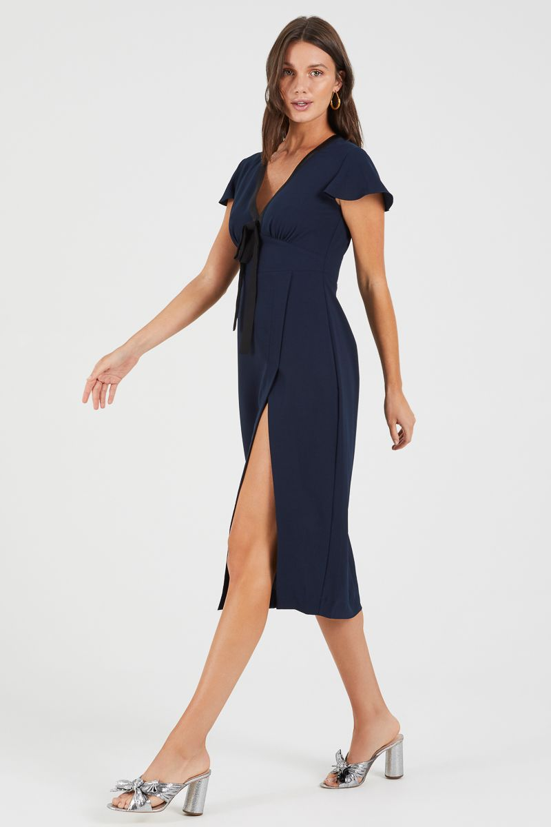 Talk To Me High Split Dress