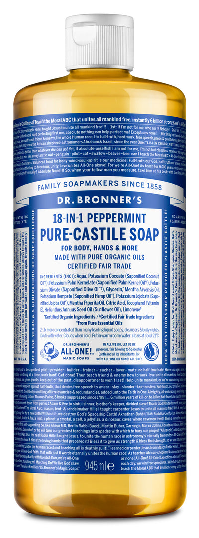 Peppermint - Pure-Castile Liquid Soap - peppermint-pure-castile-liquid-soap