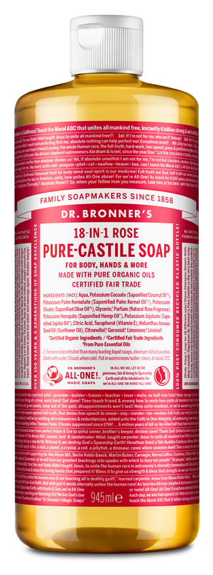 Rose - Pure-Castile Liquid Soap