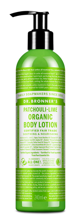 Patchouli Lime - Organic Lotion