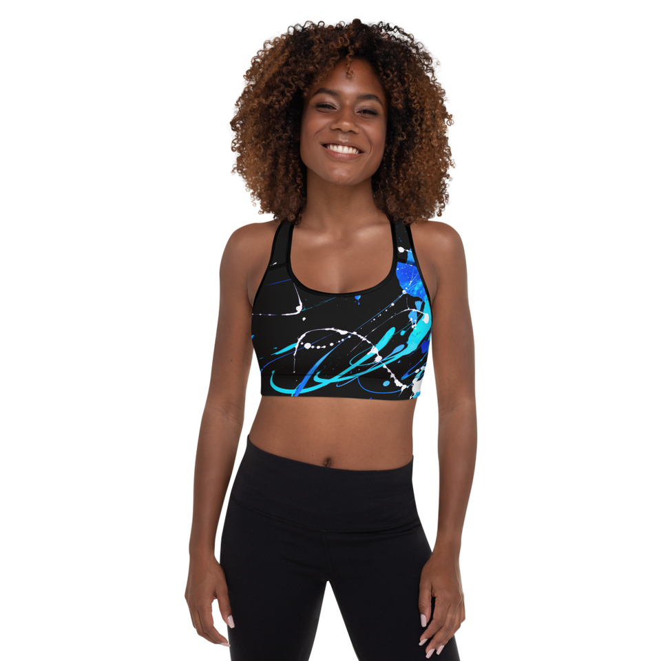 Ombres Noires Padded Sports Bra