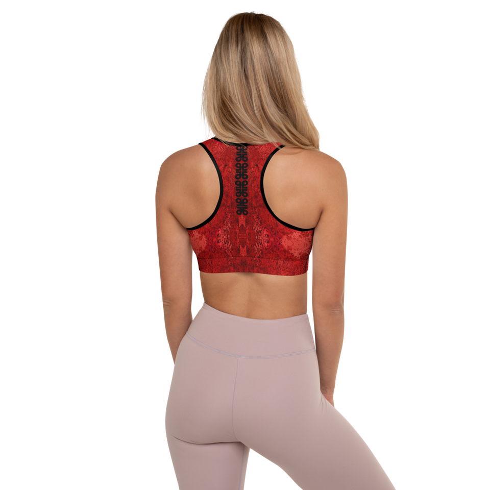 Rêves Rouge Padded Sports Bra