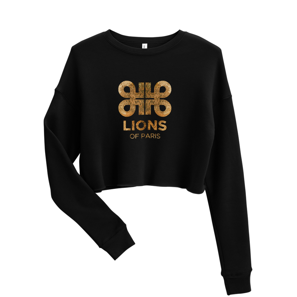 Rêves d'Or Logo Crop Sweatshirt