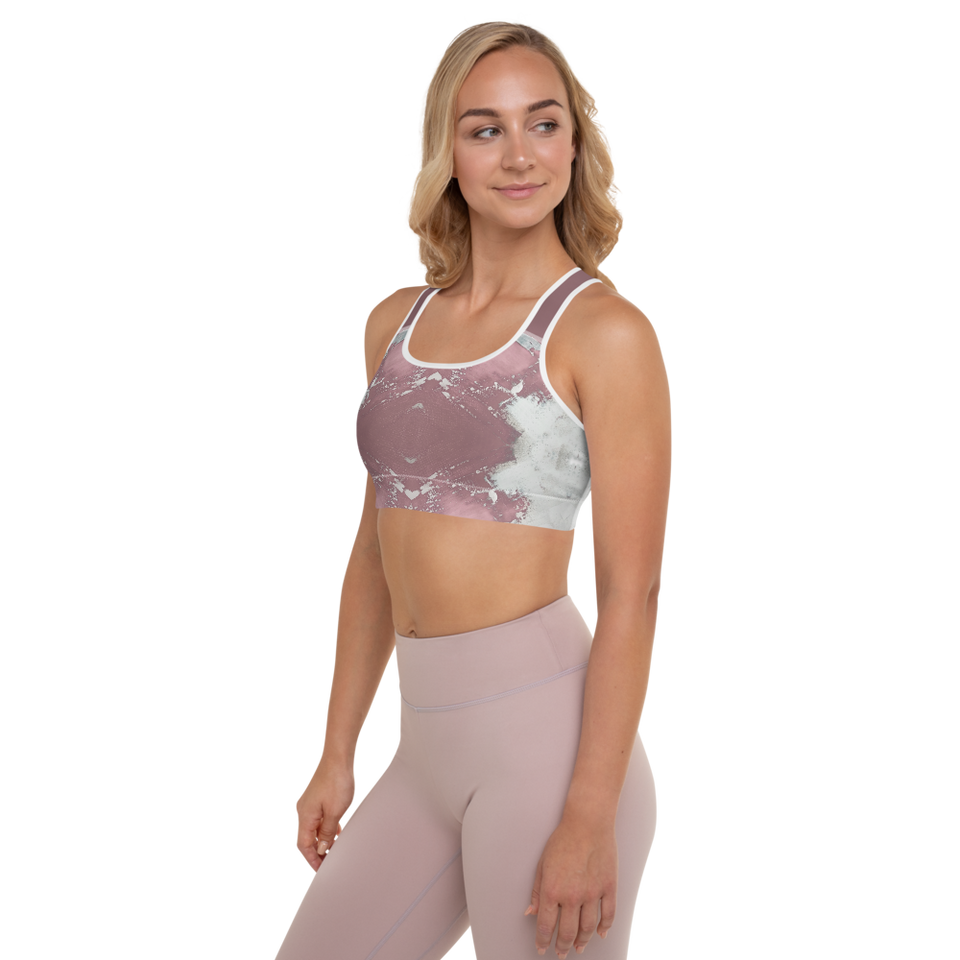 Supernova Pink Padded Sports Bra