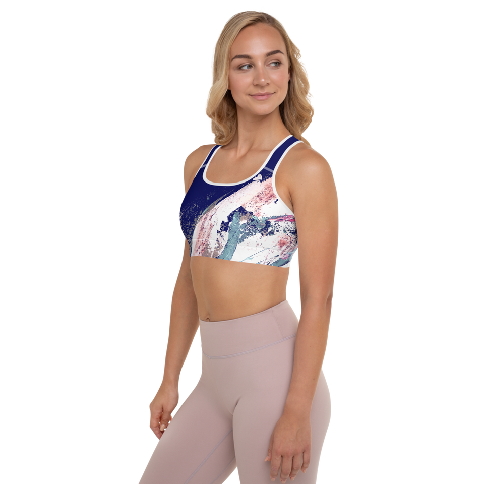 Palette Bleue Padded Sports Bra