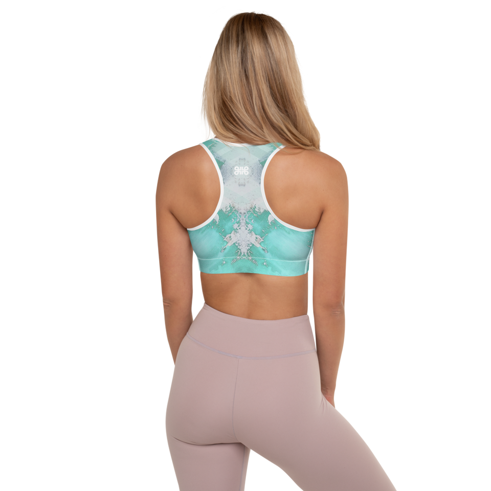 Supernova Blue Padded Sports Bra